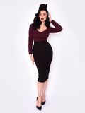 Black Marilyn Top in Oxblood