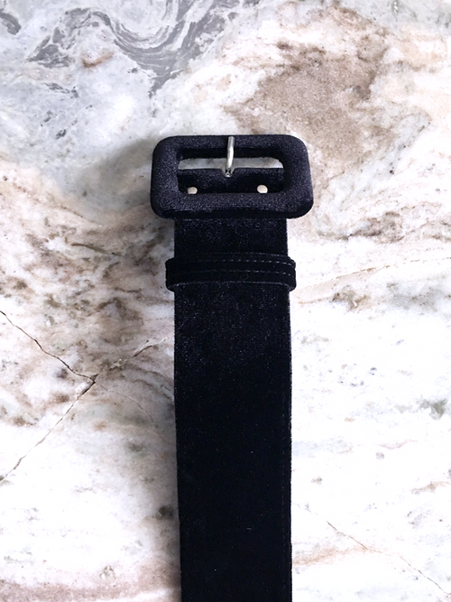 Belt in Black Velvet - 2 Inches