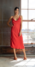 Load image into Gallery viewer, Cowl Neckline Dress - RED