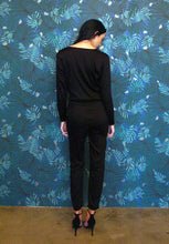 Load image into Gallery viewer, KATIA TIE FRONT JUMPSUIT - BLACK - Thieves Like Us Collection