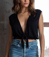 Load image into Gallery viewer, KAYLA CAP SLEEVE TIE FRONT TOP