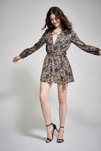 Load image into Gallery viewer, LENA LONG SLEEVE MINI DRESS - RETRO FLORAL - Thieves Like Us Collection