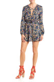 LENA LONG SLEEVE MINI DRESS - RETRO FLORAL - Thieves Like Us Collection