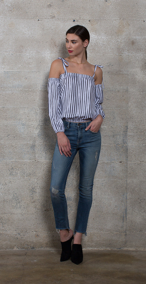 HAZEL SEXY TIE SHOULDER TOP - Thieves Like Us Collection