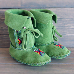 Indigenous Native American Beaded Moccasins