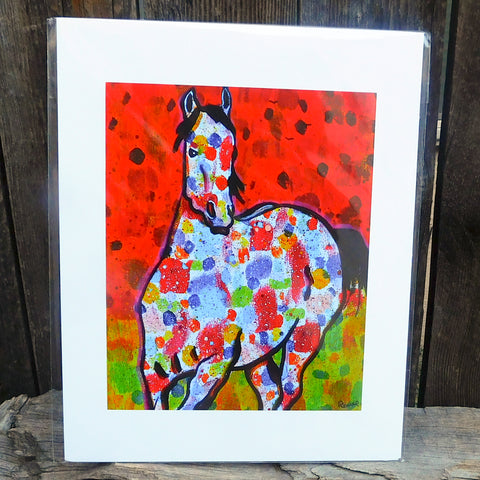 Native American Art Print-Navajo/Dine Signed Print of Original Painting-Ronald Chee-Painted Pony