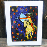 Native American Art Print-Navajo/Dine Signed Print of Original Painting-Ronald Chee-Night Ride