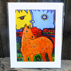 Native American Art Print-Navajo/Dine Signed Print of Original Painting-Ronald Chee-Horse Medicine
