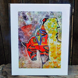 Native American Art Print-Navajo/Dine Signed Print of Original Painting-Ronald Chee-Horse Spirit