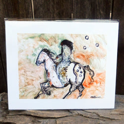 Native American Art Print-Navajo/Dine Signed Print of Original Painting-Ronald Chee-Winter