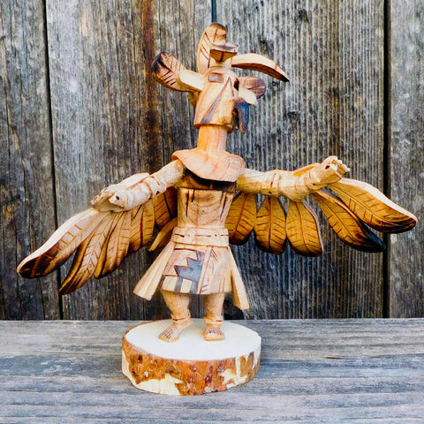Native American Art - Navajo Kachina - Wood EAGLE KACHINA-Robert Platero