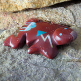 Native American Zuni Fetish Carving-Pipestone RAIN CLOUD FROG-Spirit Animal-Emery Boone