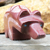 Native American Zuni Fetish Carving-Etched Pipestone BEAR -Spirit Animal-Brandon Phillips