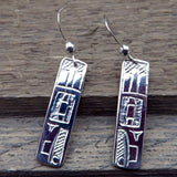 Native American Jewelry-Tahltan-Tlingit-Sterling Silver RAVEN Earrings - Terrence Campbell