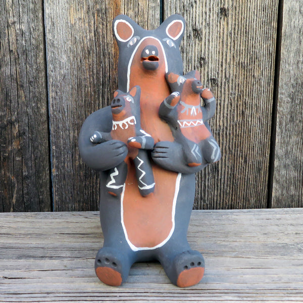 Native American Pottery-Jemez Pueblo Pottery-BEAR STORYTELLER Sculpture-Robert Fragua