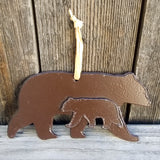 Native American Art-Authentic Menominee Metal Wall Art-Steel WALKING BEARS Ornament/Sculpture-Cindy Kuck
