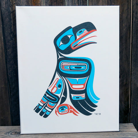 Native American Art - Tahltan/Tlingit Canvas Print-Northwest RAVEN-Terrence Campbell