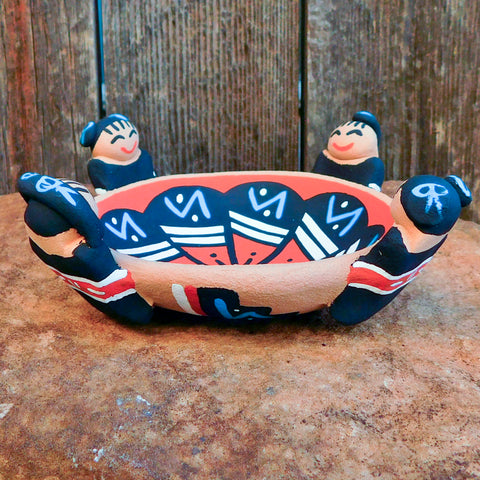 Native American Pottery-Red Clay Pottery-Jemez Pueblo Pottery-Handmade FRIENDSHIP POT-Tim Tosa