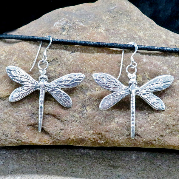 Native American Jewelry Navajo-Sterling Silver DRAGONFLY Earrings - Pauline Nelson