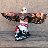 Native American Pottery-Jemez Pueblo Red Clay Pottery-EAGLE DANCER Sculpture-Fragua