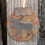 Native American Art-Authentic Menominee Metal Wall Art-Steel MOOSE Ornament/Sculpture-Cindy Kuck