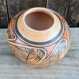 Native American Pottery-Hopi Handmade Pottery - Hand Coiled Pot with Migration Pattern-Adelle Nampeyo