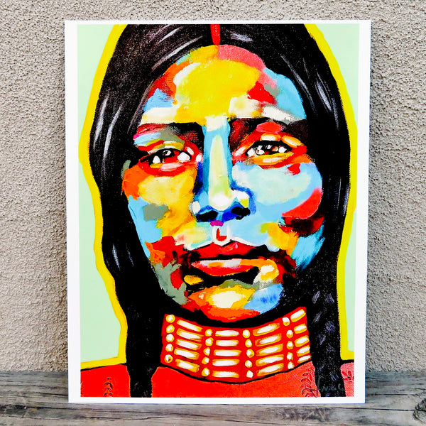 Native American Art -Print of Original Painting-Comanche/Kiowa - Protect Her Spirit - J. NiCole Hatfield