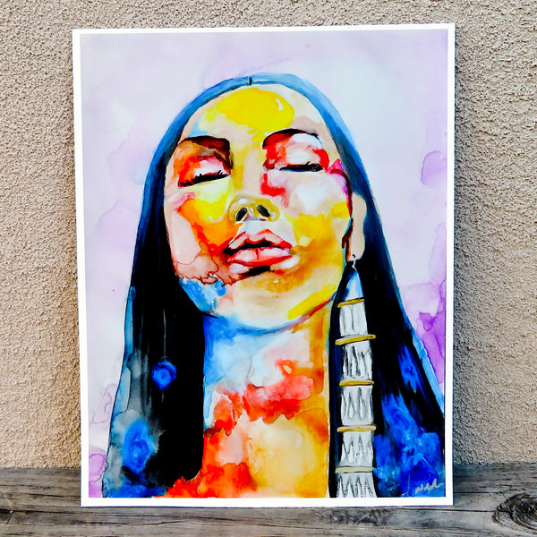 Native American Art -Print of Original Painting-Comanche/Kiowa - Pray/Renew - J. NiCole Hatfield