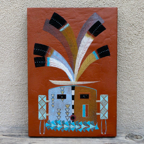 Native American Art-Authentic Navajo/Dine' Original Sand Painting - YEI Design - Joe Ben, Jr.