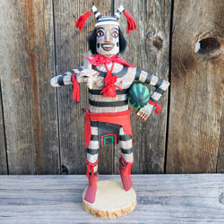 Native American Folk Art-Navajo Folk Art-Navajo KOSHARI/CLOWN Kachina with Watermelon -Frank Begay
