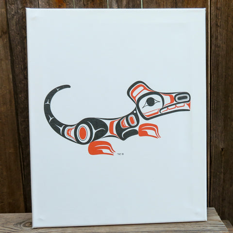 Native American Art - Tahltan/Tlingit Canvas Print-Northwest WOLF-Terrence Campbell
