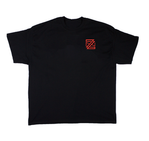 ZN (YR1) Tee: Chili/Black/White