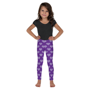 Girls Purple Heart Leggings