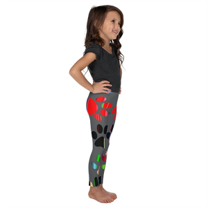 Girls Glow Paw Leggings
