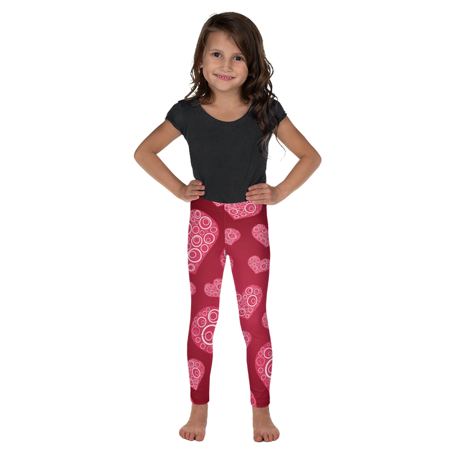 Girls Darling Heart Leggings