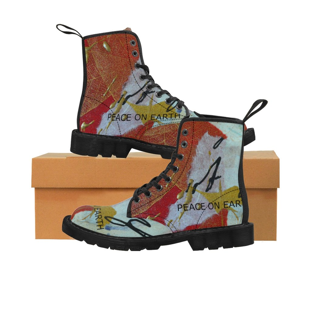 STAND UP FOR WHAT YOU BELIEVE WEARING YOUR OWN ONE OF A KIND DESIGNED KIRSTEINFINEART MARTIN BOOTS.