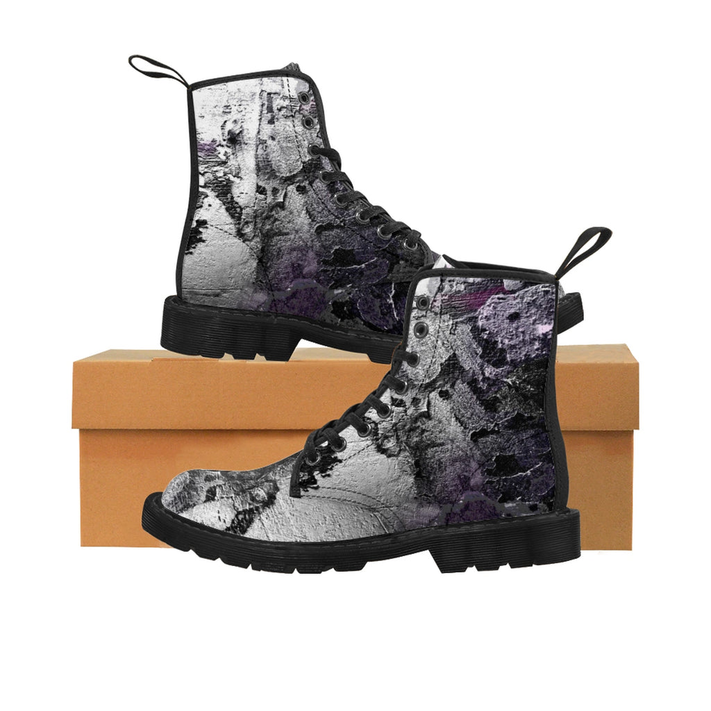 What Do You See Women's Canvas Boots - Kirsteinfineart