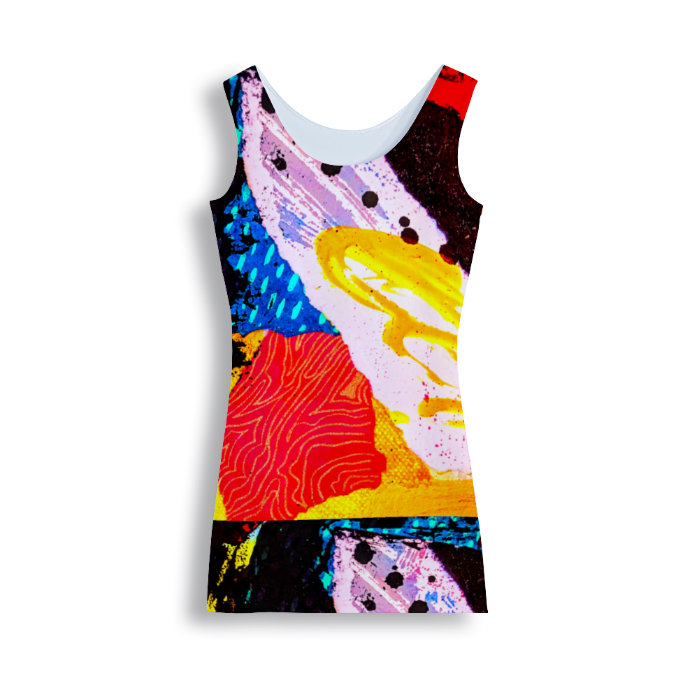 Splash of Color 2 Women's Tank Dress