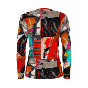 Shaman's Dream Long Sleeve Fitted T-shirt - Kirsteinfineart
