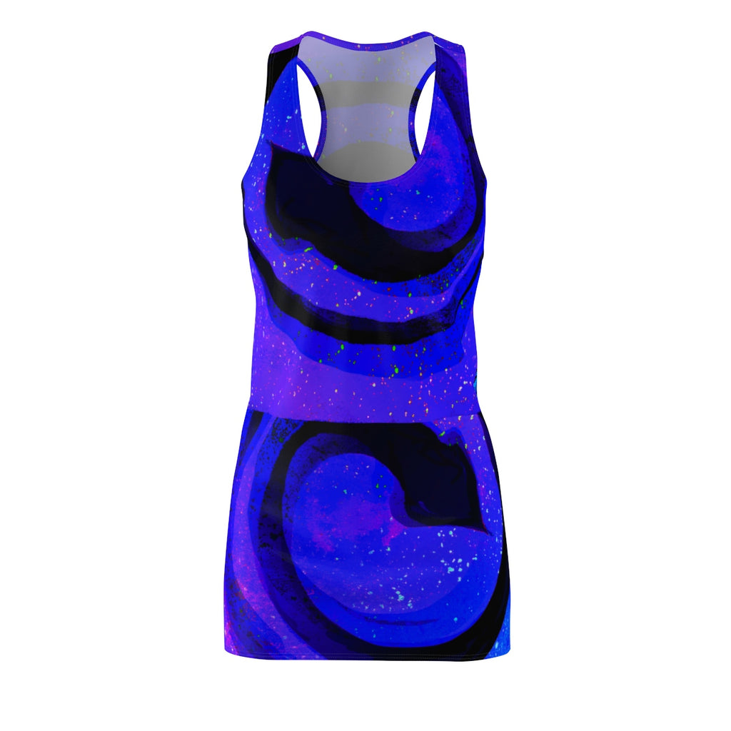 Throat Chakra Women's Cut & Sew Racerback Dress - Kirsteinfineart