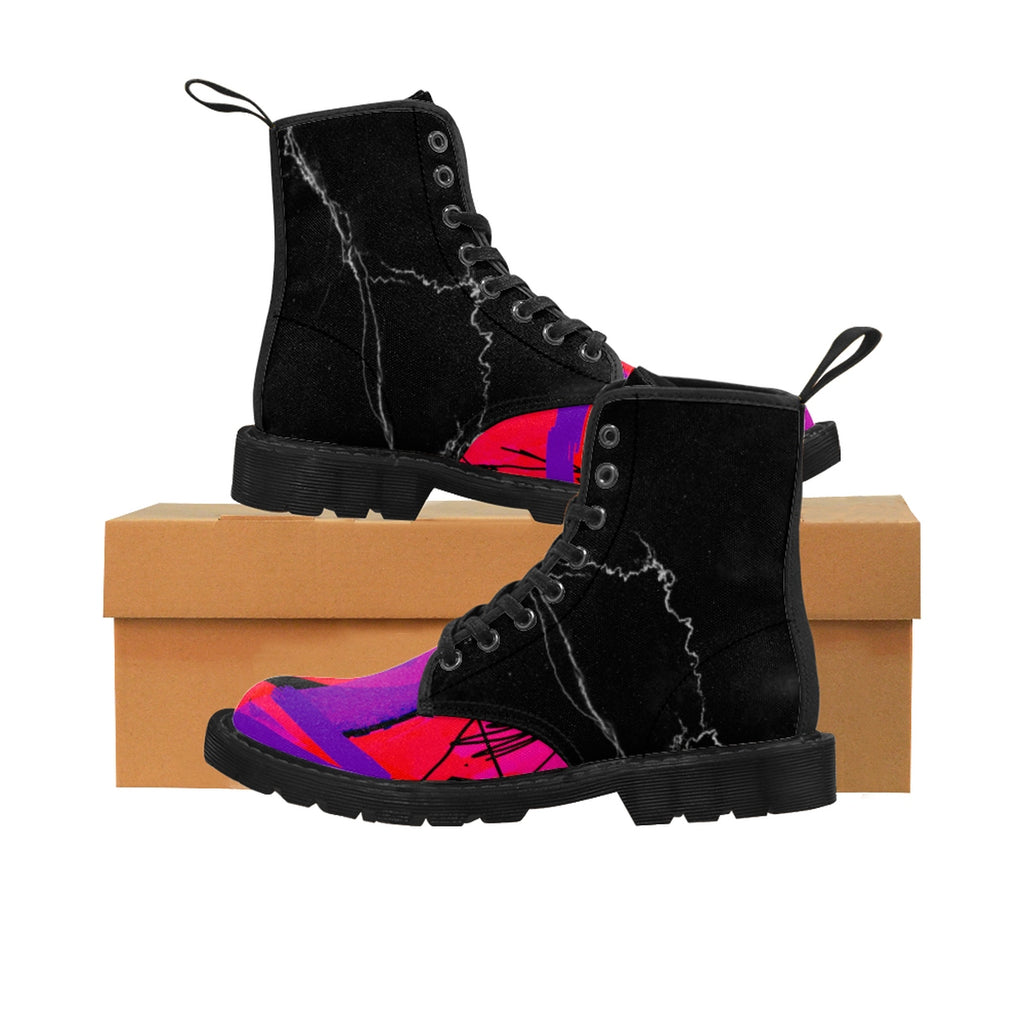 Third Eye Women's Canvas Boots - Kirsteinfineart