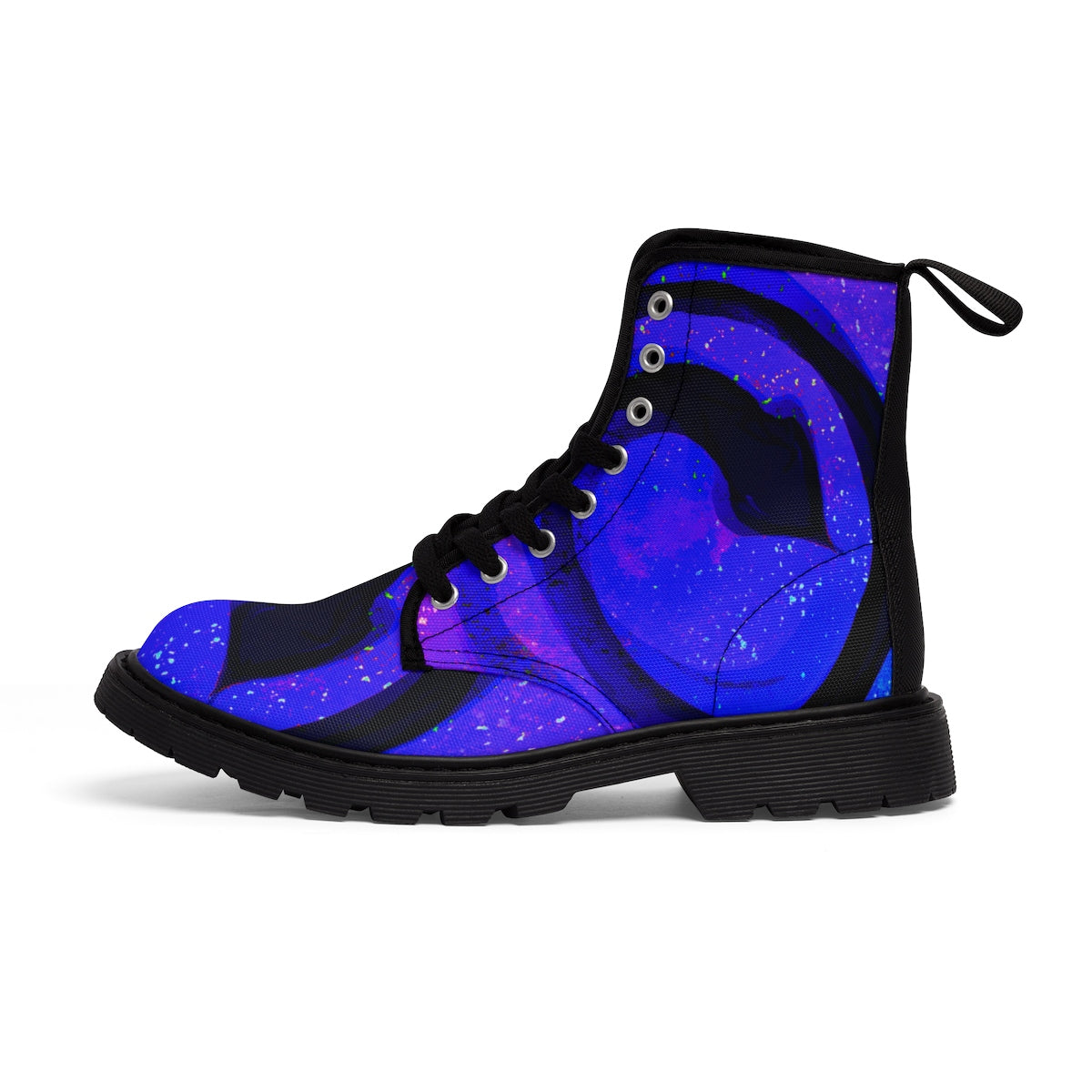 Indigo Serpent Women's Canvas  Boots - Kirsteinfineart