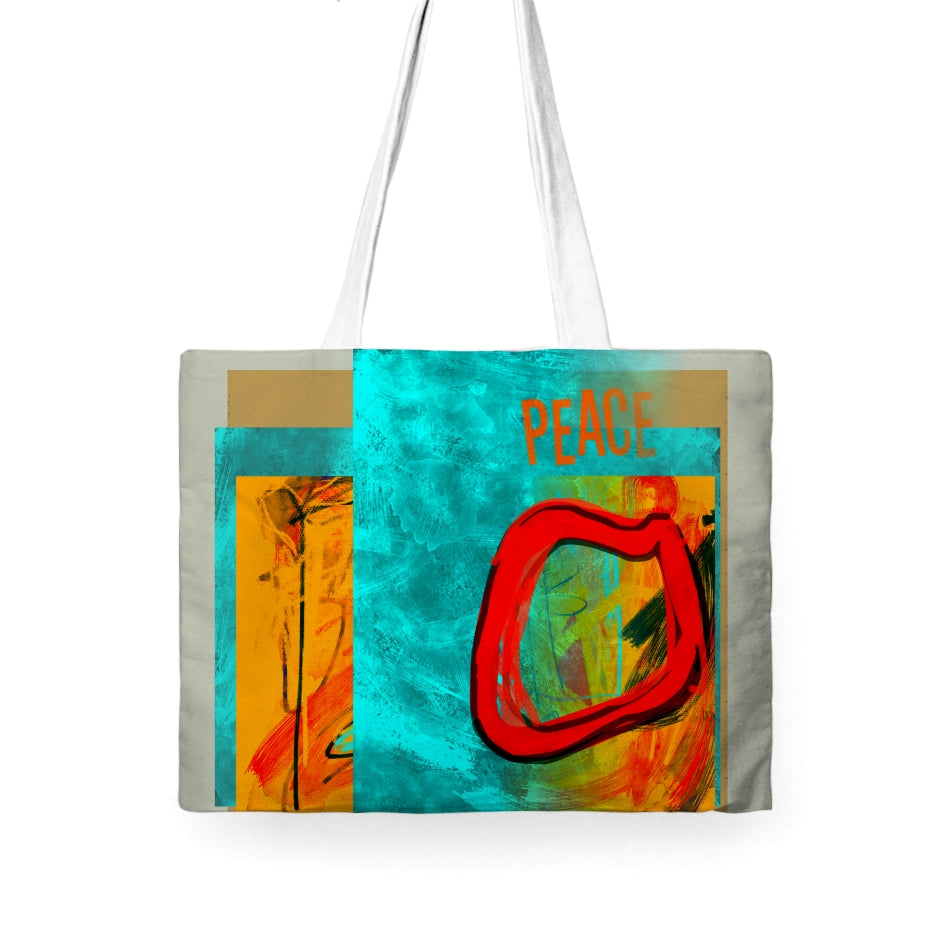 Peace Tote Wide - Kirsteinfineart