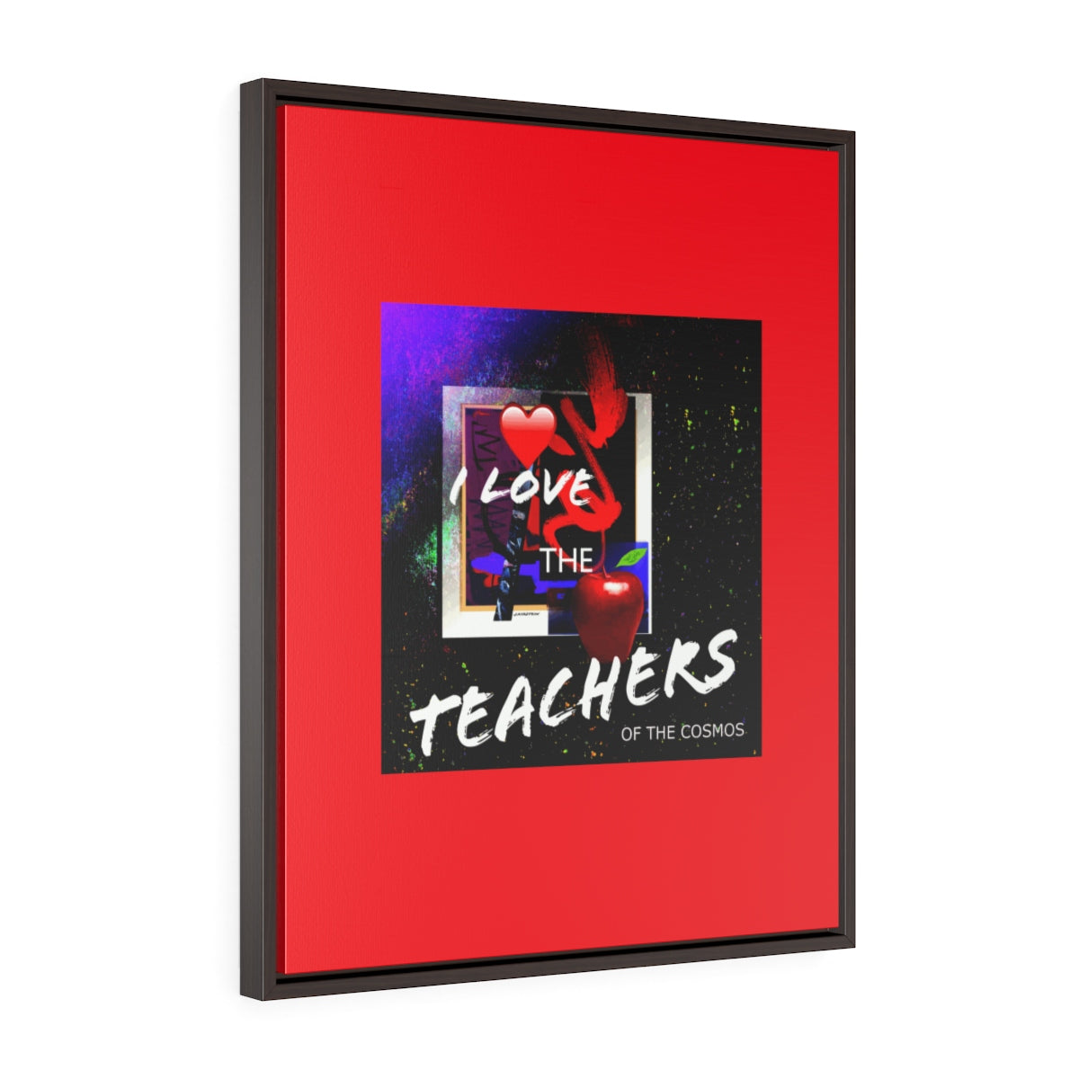 I Love the Teachers of the Cosmos Vertical Framed Premium Gallery Wrap Canvas - Kirsteinfineart