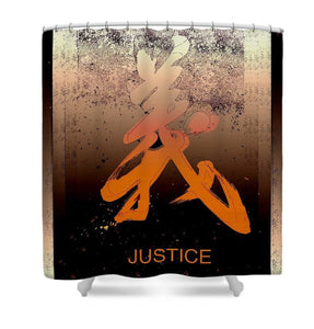 Justice Shower Curtain - Kirsteinfineart