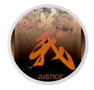 Justice Round Beach Towel - Kirsteinfineart