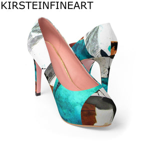 Evening Sensation Women's Platform Heels Designed by Janis Kirstein - Kirsteinfineart