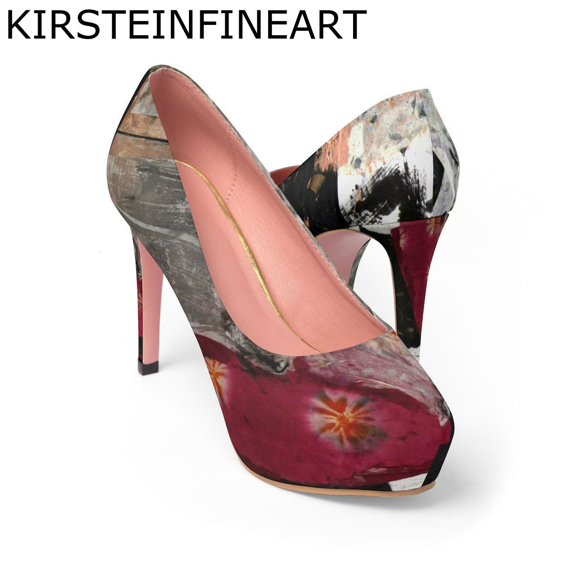 Evening Splendor Women's Platform Heels Designed by Janis Kirstein - Kirsteinfineart