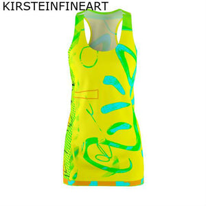 Solar Plexus Women's Cut & Sew Racerback Dress - Kirsteinfineart