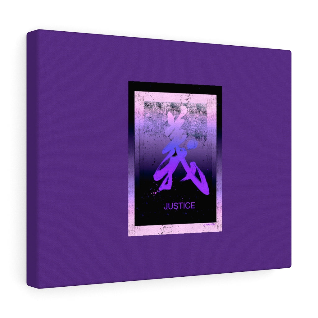 Justice in Purple Canvas Gallery Wraps